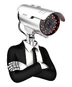 3d security agent with camera head