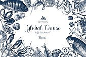 cruise menu design