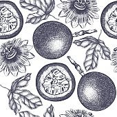 Vector passionfruit pattern