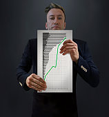 CEO Showing Successful Business Analysis
