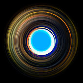 ring of light. rotation and circulation. colorful abstract background.