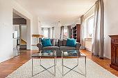 Shot of stylish living room with comfortable sofa