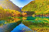 Five Flower Lake. China.