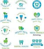 Vector dental stomatology clinic badge icon