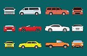 Car vehicle transport type design travel race model sign technology style and generic automobile contemporary kid toy flat vector illustration isolated icon