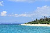 Minna beach in Minna island, Okinawa, Japan