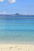 Ie Island in Motobu, Okinawa, Japan