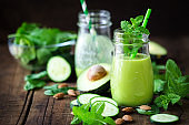 Avocado and cucumber detox smoothie