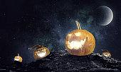 Mystery of Jack pumpkin . Mixed media