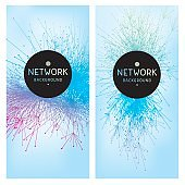 Abstract network technology banners