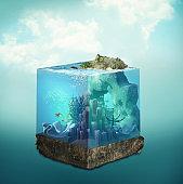 Underwater of ocean