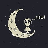 Funny alien astronaut