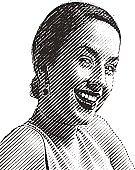 Portrait of a Happy Adult Woman
