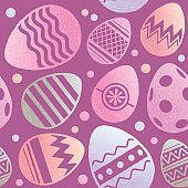 Easter related spring pattern
