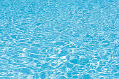 Beautiful ripple wave and blue water surface in swimming pool