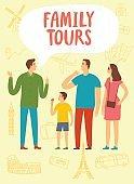 Family tours illustration