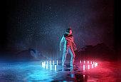 Strange Futuristic Spaceman