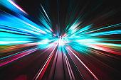 Light speed explosion illustration