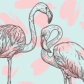 Retro Flamingo Pattern
