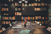 Modern stylish library