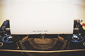 Words 'Once upon a time' written with old typewriter