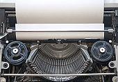 Details of an old retro typewriter,