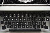 Details of an old retro typewriter