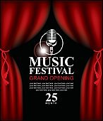 poster for music festival with microphone