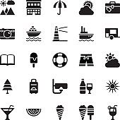 Summer and Travel Vector Icons 5