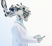 Futuristic robot healer