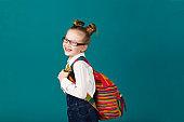 Little school girl