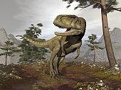 Abelosaurus dinosaur - 3D render