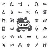 Soap bar icon.