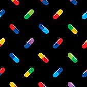 Colorful Pills Seamless Pattern