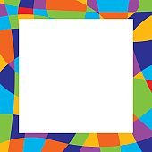 Square Abstract Colorful Frame