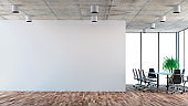 Empty office interior with conference table