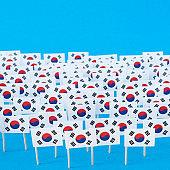 South Korean flags