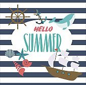 Hello summer  inspiration card