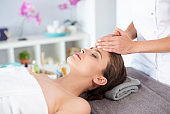 Woman spending time at spa