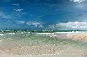 Tropical empty beach
