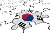 Abstraction - Puzzle with an South Korea Flag