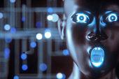 Futuristic alien cyborg