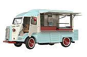 Food car eatery beige