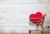 shopping cart and toy
