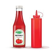 realistic bottles for ketchup