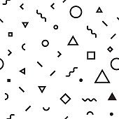 Seamless pattern abstract geometric shape background wallpaper art