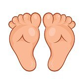 Baby legs icon, cartoon style