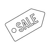 Sale icon, outline style