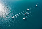 Sailing boats in Adriatic, Croatia