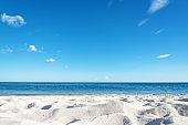 Beach sand and sea background